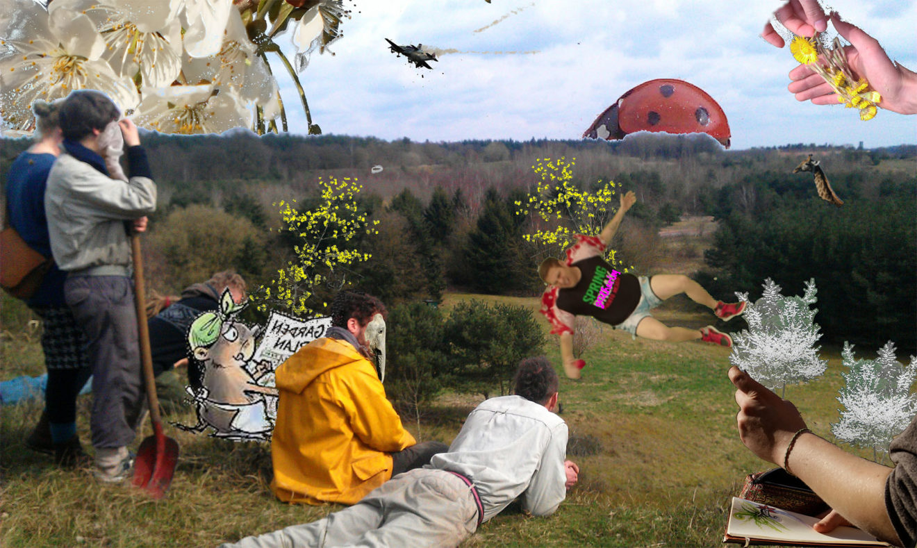 spring gathering in the forestgarden/Lower Sachsony